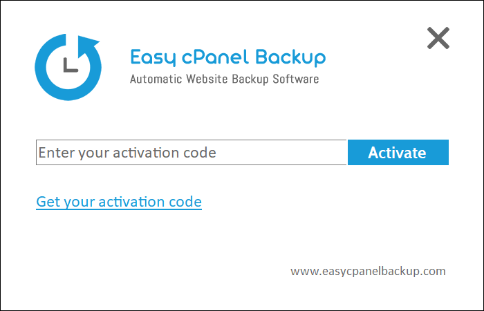Easy cPanel Backup activation