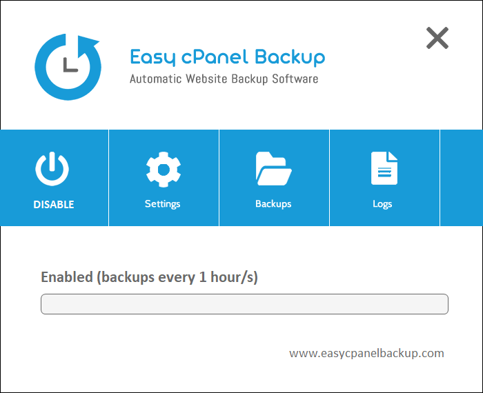 Easy cPanel Backup software