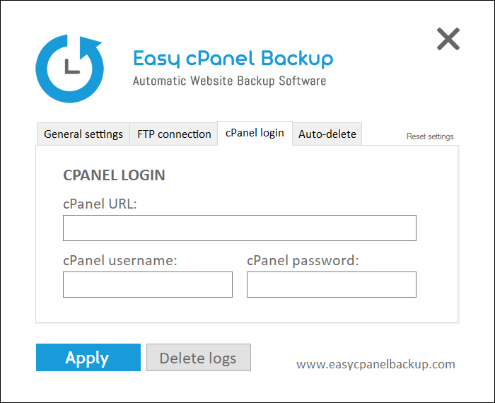 Easy cPanel Full Backup