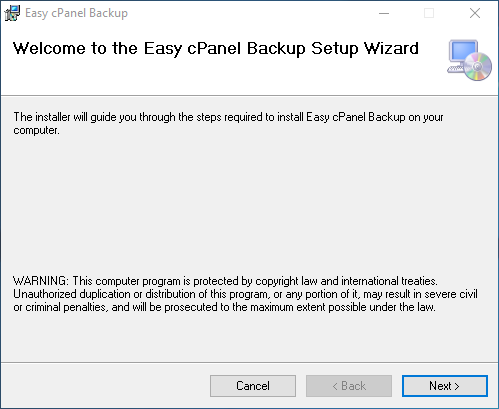Easy cPanel Backup install