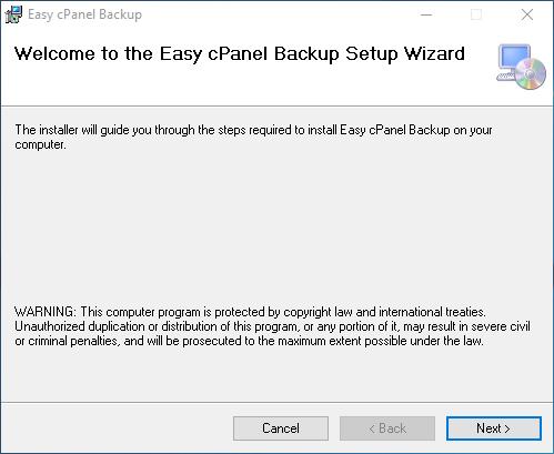 Easy cPanel Backup install